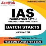 Samyak IAS Foundation Batch